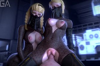 Hentai Sexy pussy fucking threesome