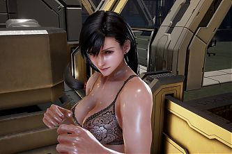 TK7 Ryona - Tifa in lingerie costume with voicemod (FPV)