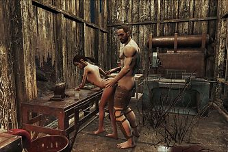 Fallout 4 Ass Fucked On The Workbench