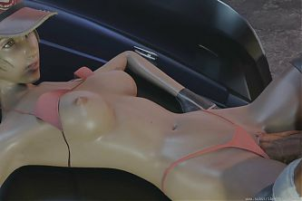 Cindy Takes A Big Dick On Her Car