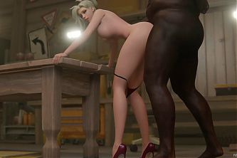 Mercy Takes Big Long Strokes In Her Butthole