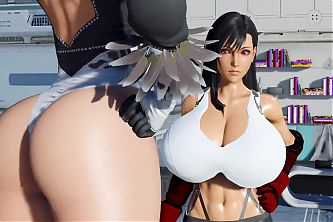 (Not Mine) Tifa and 2B Growth Contest (Mostly HD)