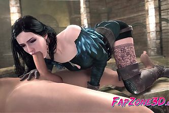 This 3D Nude Yennefer Likes a Huge Fat Dick